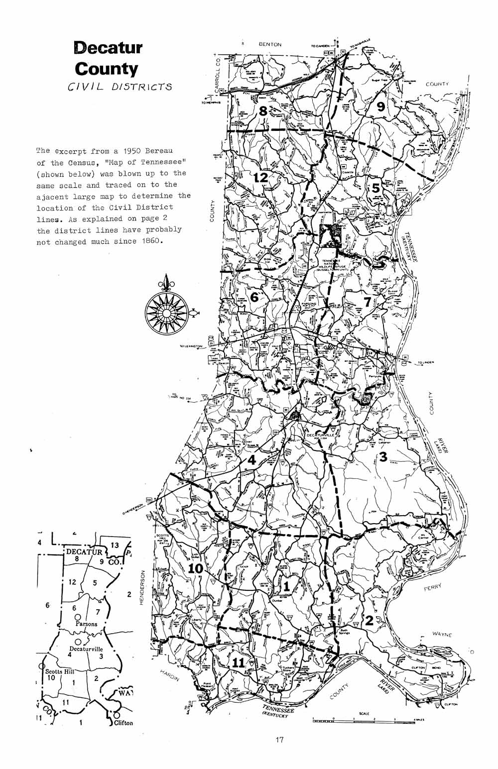 Decatur County Civil Districts 1860 To 1960